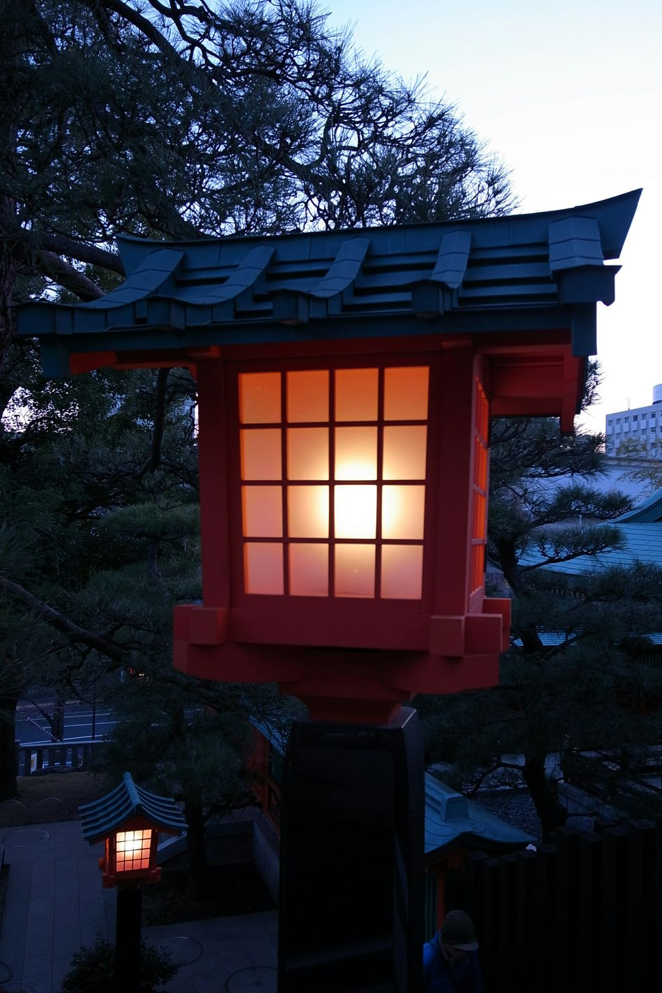 Shrine Light And Shadow Nightlights Night View Street Lamps New Year Traditional Winter Cold Day Ricoh GRD III 綺麗でした