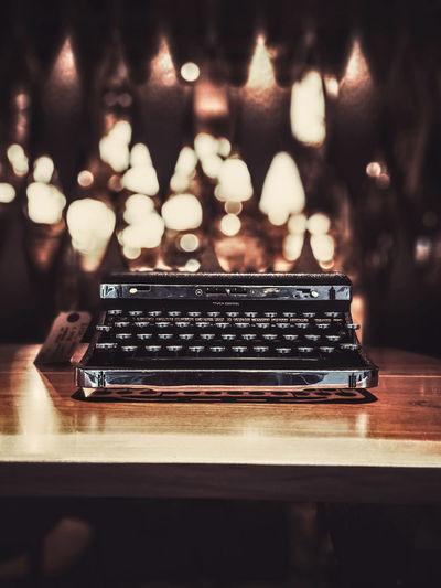Vintage Set Rahim RahimNoel NYC NY New York Beautiful Vivid Vintage Typewriter