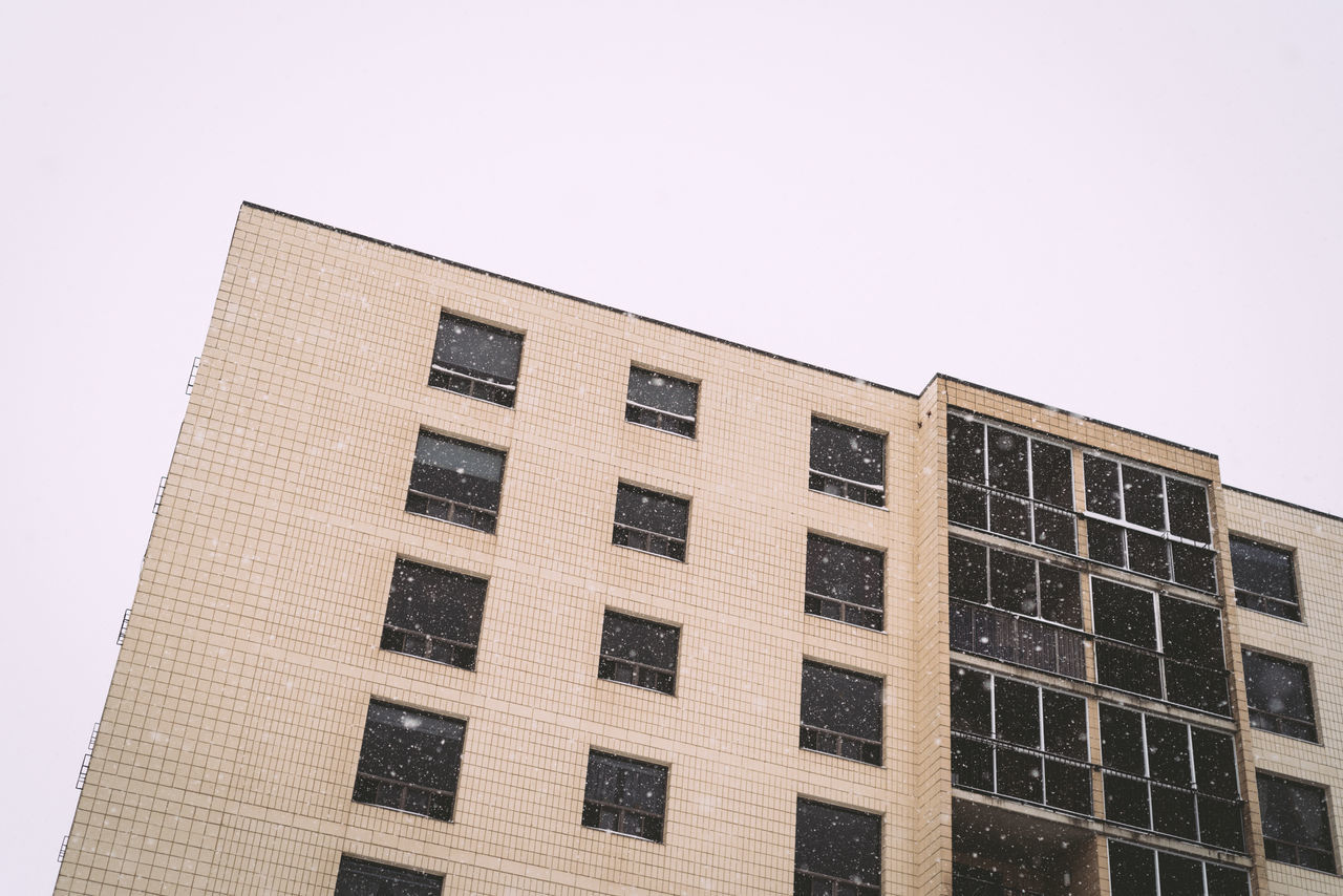 Apartment Apartment Buildings Apartment Living... Architecture Building Exterior Built Structure Day Low Angle View No People Outdoors Sky Snowing Window Winter Days