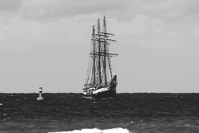 Transportation Beauty In Nature Perfect Shot Wonderful Sky And Clouds Warnemünde 20016 Ships⚓️⛵️🚢 Seascape Photography Sea And Sky Sea_collection Water_collection Black&white Blackandwhite Photography Black And White Portrait EyeEm Best Shots Wonderful Place Ozean Portrait Photography EyeEm Gallery scenics Nautical Vessel Fotography