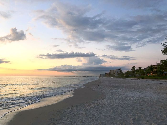 EyeEmNewHerе Clouds Florida Bonita Beach Gulf Of Mexico Sea Beach Sky Nature Water Sand Beauty In Nature Sunset Horizon Over Water Outdoors No People