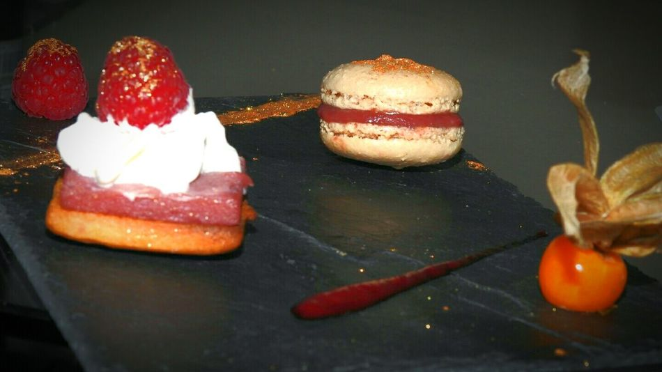 Food French Food No People Macarons Desserts Cafe Gourmand  Framboise Gold Or Gateaux