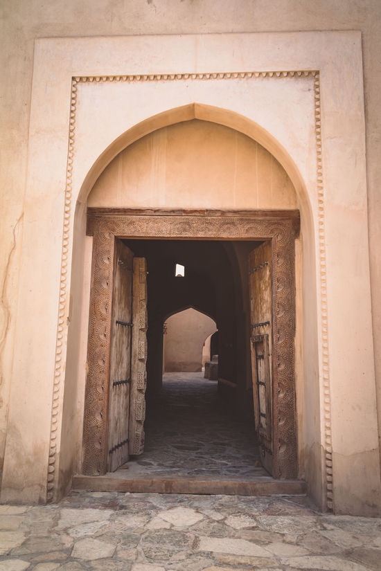 Arch Architecture Built Structure Doors Doorway Entryway Fort History Nizwa Fort Oman Travel Travel Destinations Travel Photography