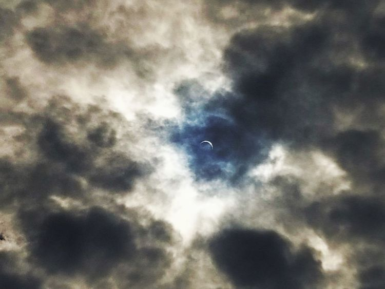 2017 eclipse Cloud - Sky Outdoors No People Solar Eclipse 2017 Eclipse 2017 Springfield Illinois Sky Eclipse