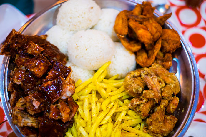 Platter food for whole family Budol Fight Carbohydrate Chicken Wings Close-up Crunchy Dining Out Fast Food Food Food And Drink French Fries Freshness Fried Potato Health Indoors  Mouthwatering Platter Prepared Potato Protein Ready-to-eat Ribs Rice Unhealthy Eating Dinner Family