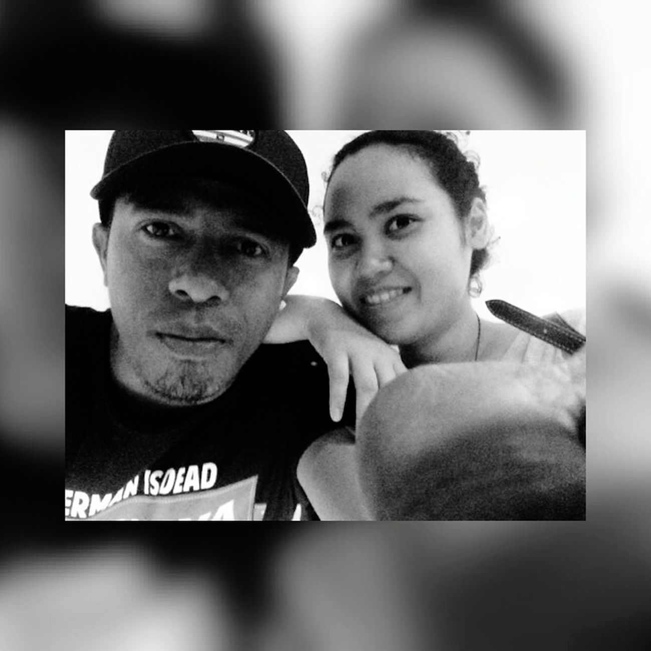 Mr&mrs Messy RyaNadia Lelakiku Iloveyou I Love You ! Pacarnanjauhdimato Enjoying Life Hereweare Black & White