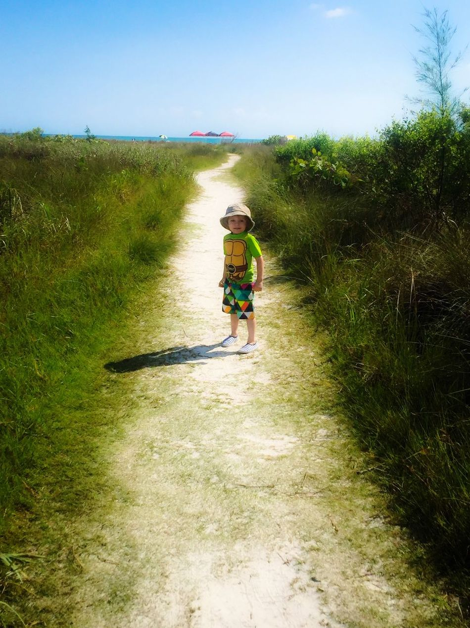 Full Length The Way Forward Day Fun Beach Nature Nature Is My Best Friend Beauty In Nature Sky Outdoors Landscape Tadaa Community Portrait Of A Toddler Blue Grandson Nature Photography Sand Vacation Green