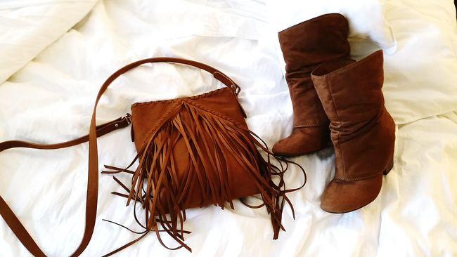 Shoes Boots Purse Fashion Fallfashion  Brown Accesories