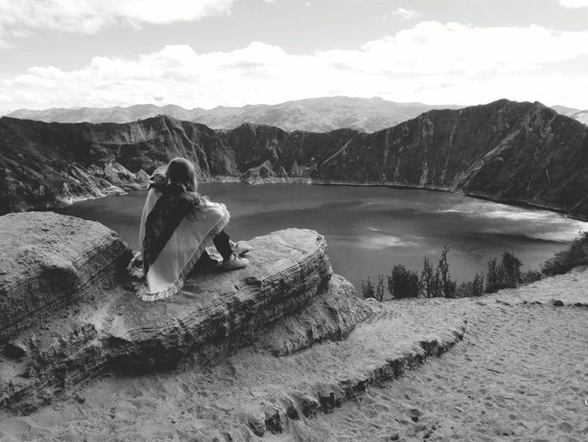 We walked all the way down to the lake into crater. The hike wasn't to accomplish until we had to go back. As the crater is located very high (3914m) it was very exhausting to get up the mountain. Hike Volcano Hike Quilotoa Laguna Quilotoa Craterlake Caldera Volcano Mountain_collection Black & White Capture The Moment