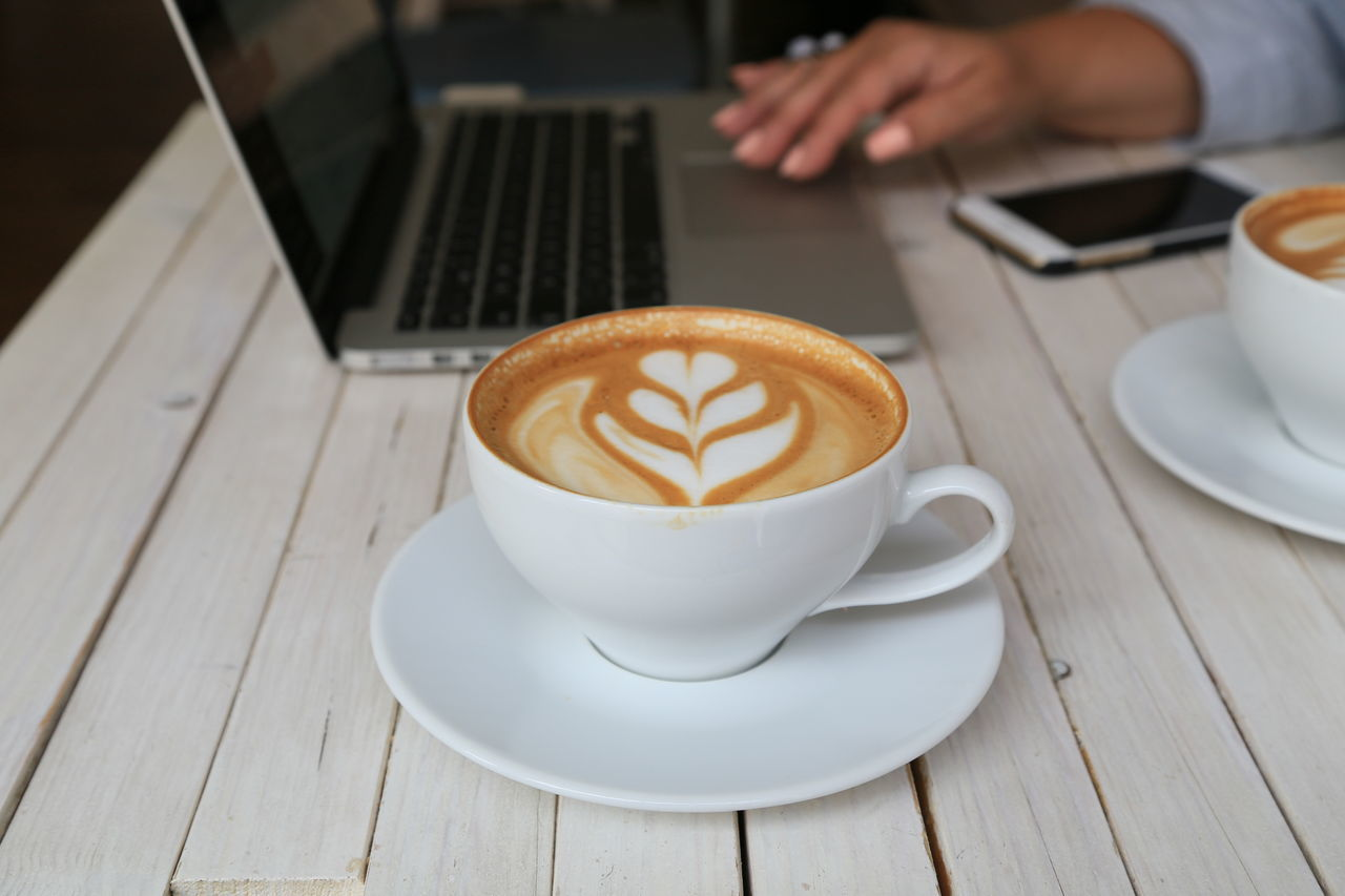 Beautiful stock photos of computers, Art, Cafe, Cappuccino, Coffee - Drink