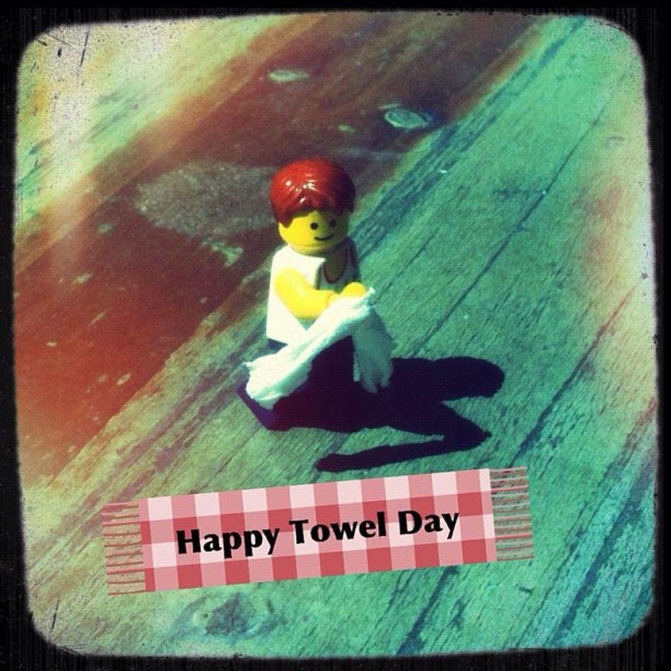 Happy Towel Day 2012 Towelday Berlin Travel LEGO Berlintourist