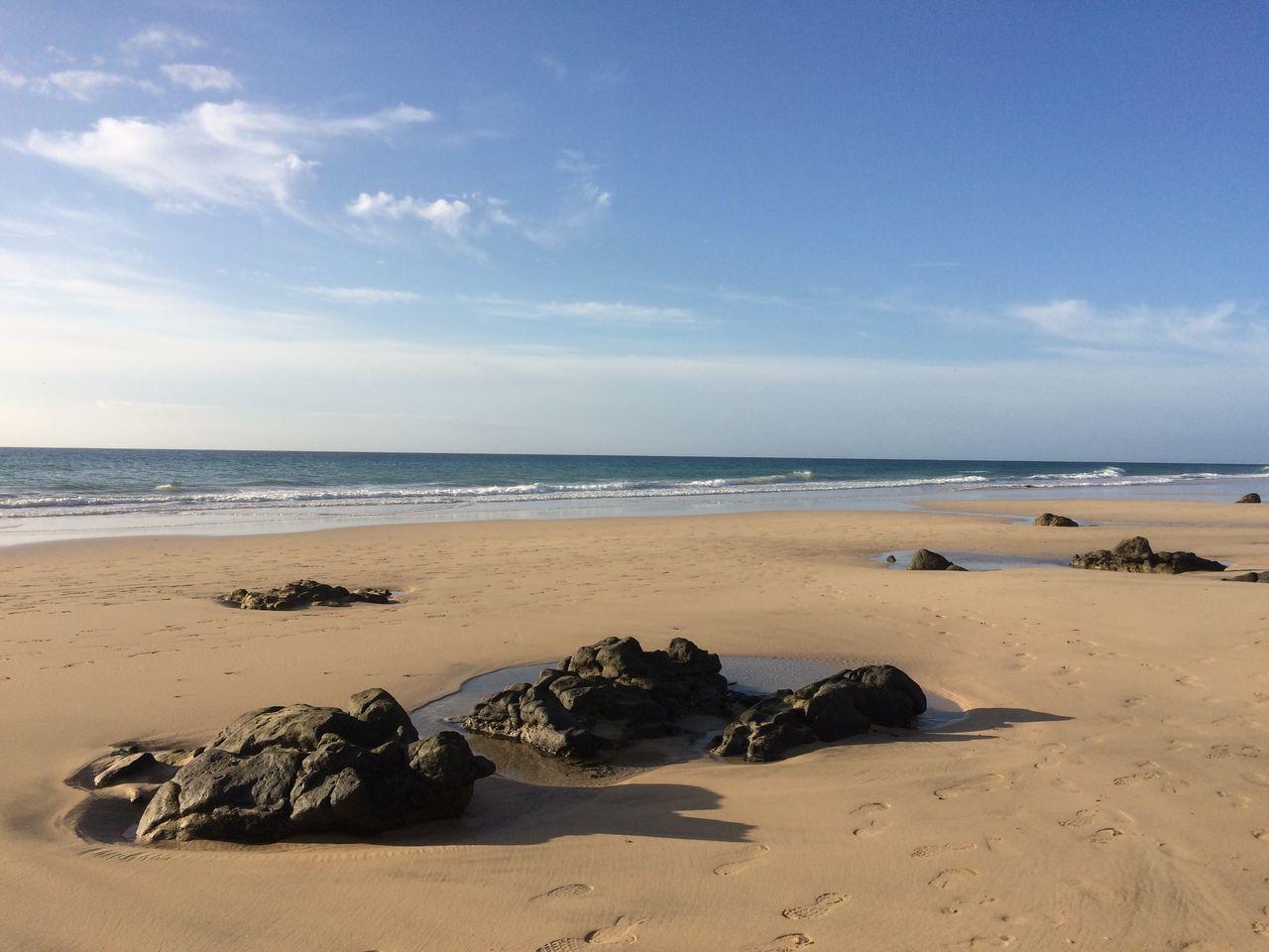 Sea Beach Horizon Over Water Outdoors Sky No People Day Fuerteventura Tui Magic Life Sand & Sea Sand Reflection First Eyeem Photo EyeEmNewHere