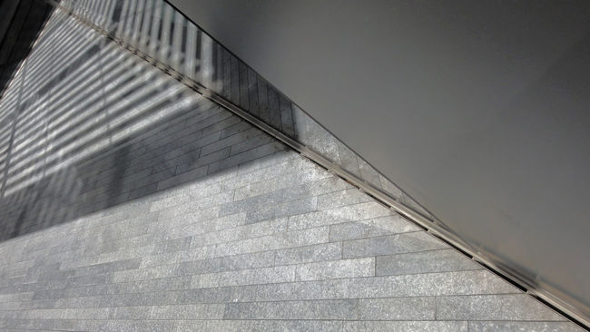 simplicity Architecture Architecture_collection Composition Diminishing Perspective Engineering Exterior Metal Modern Perspective Perspective Perspectives Public Space Railing Shadow Simplcity Structure Tiled Floor Wall