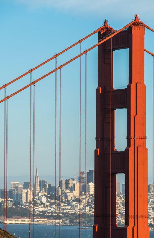 Golden Gate Bridge Suspension Bridge San Francisco USA USAtrip Cityscape Red Architecture