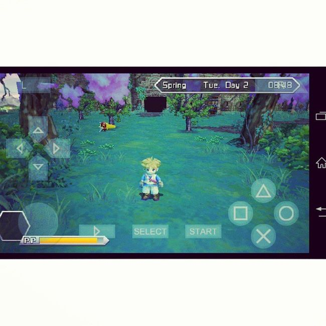 Hi, it's me and thiz is my home! ???? Bestgameever Nostalgia Cool Myfavourite game harvestmoon innocentlife harvestmooninnocentlife ppssppgold psp nature farm Farmer game