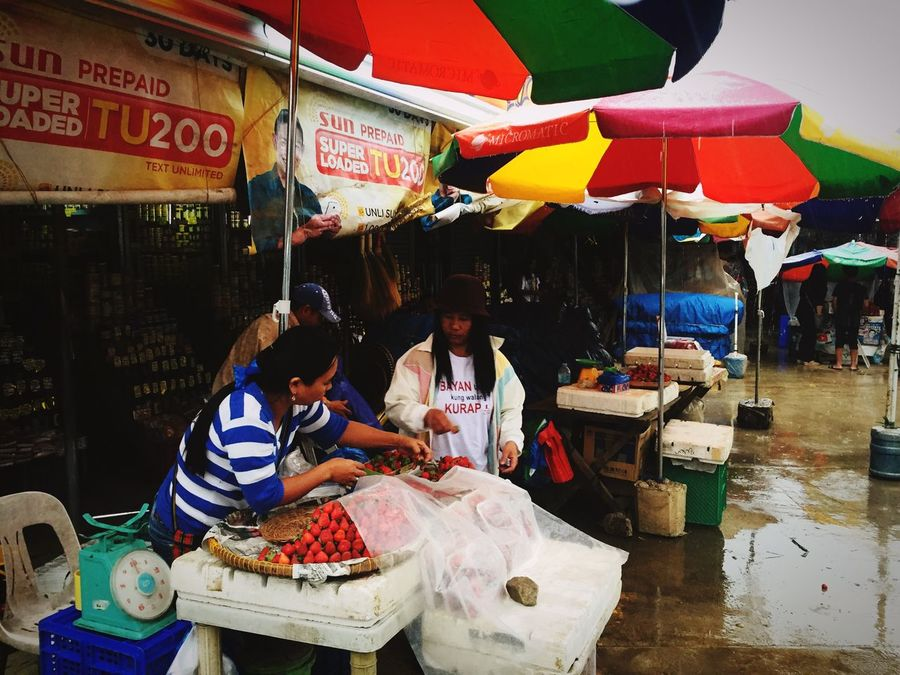 Buying 1kg of strawberries P300 at the Strawberry farm Strawberries Baguio City Philippines Travel Photography Travel Destinations