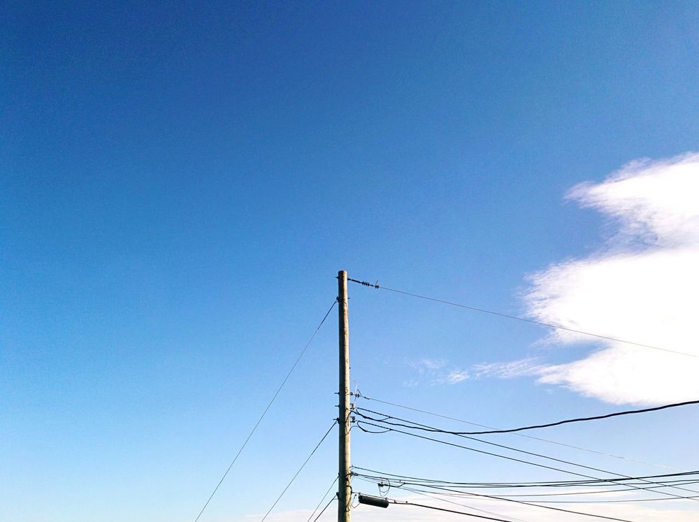 Blue Sky Single Cloud Power Line  Simplicity The Street Photographer - 2016 EyeEm Awards Fine Art Best Of EyeEm EyeEm Best Shots Fine Art Photography