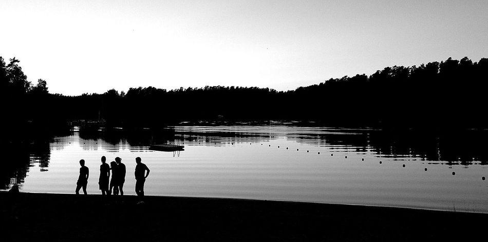 Beautiful stock photos of silhouette, Clear Sky, Copy Space, Dusk, Friendship