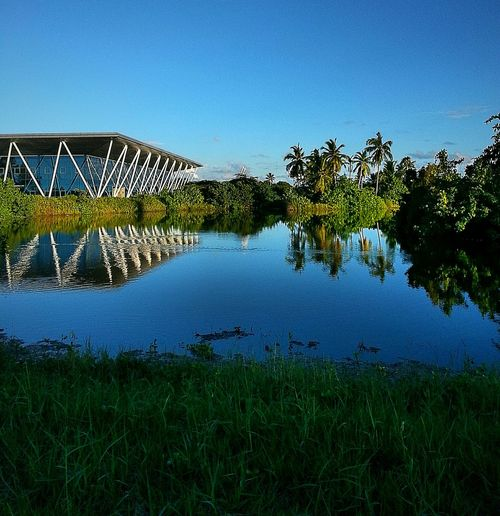 17th saarc summit took place here. Adducity Maldives Hithadhoo Blue Sky Palm Trees Pond