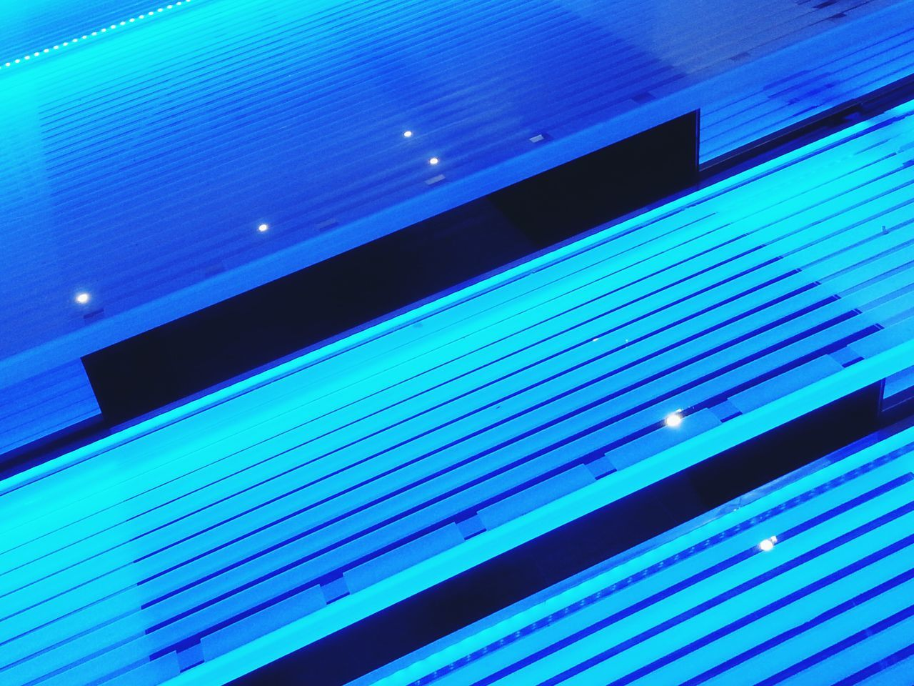 Stairs of light No People Multi Colored Close-up Modern Futuristic Ballett Monaco LED Glass Stairs Transparency Patterns Blue Lights EyeEmNewHere