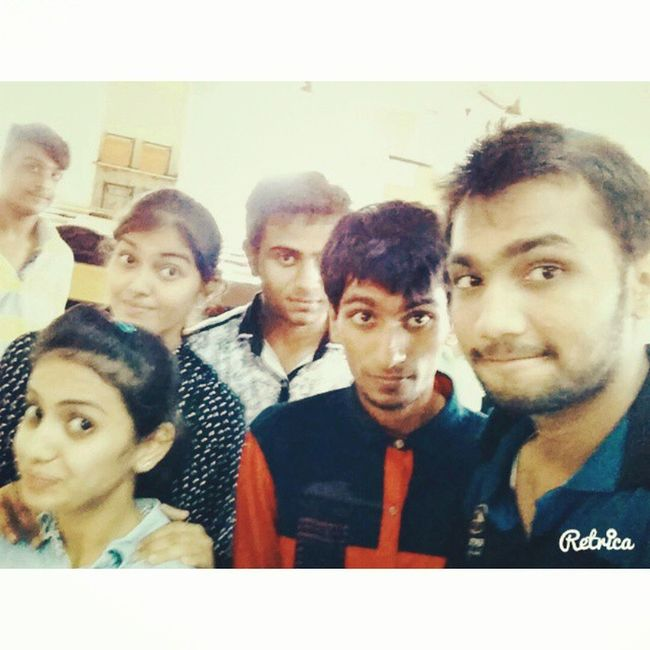 Just looked our funny faces we r always ready to take Selfie Friends Udaan