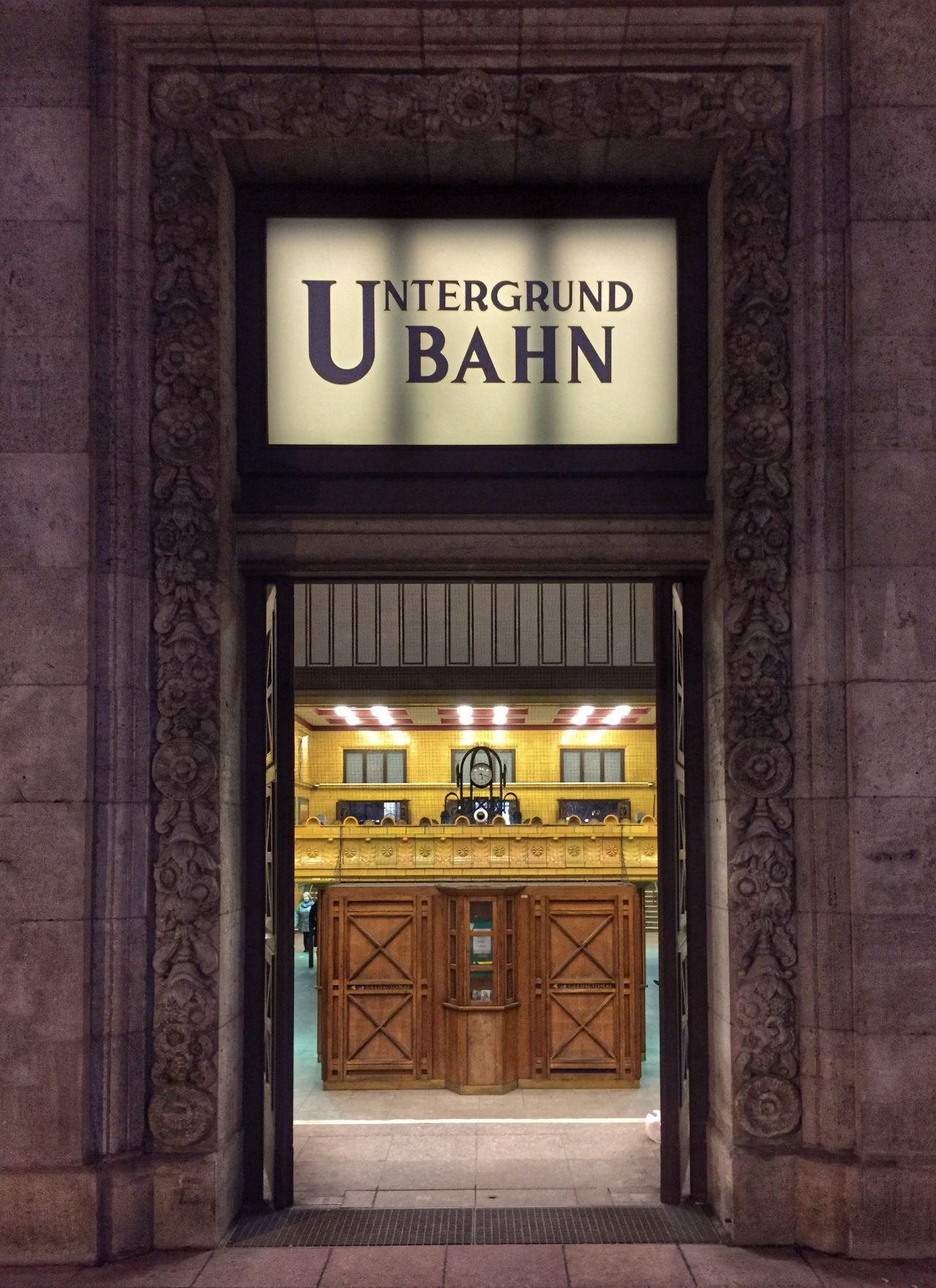 Ubahn Berlin Ubahn Entrance Door