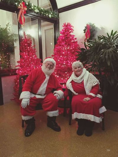 Mr and Mrs Claus. Christmas Time Mr And Mrs Claus Mr And Mrs Santa Claus Ho Ho Ho  Red Trees Taking Lists Jolly Pair All I Want For Christmas... Showcase: December