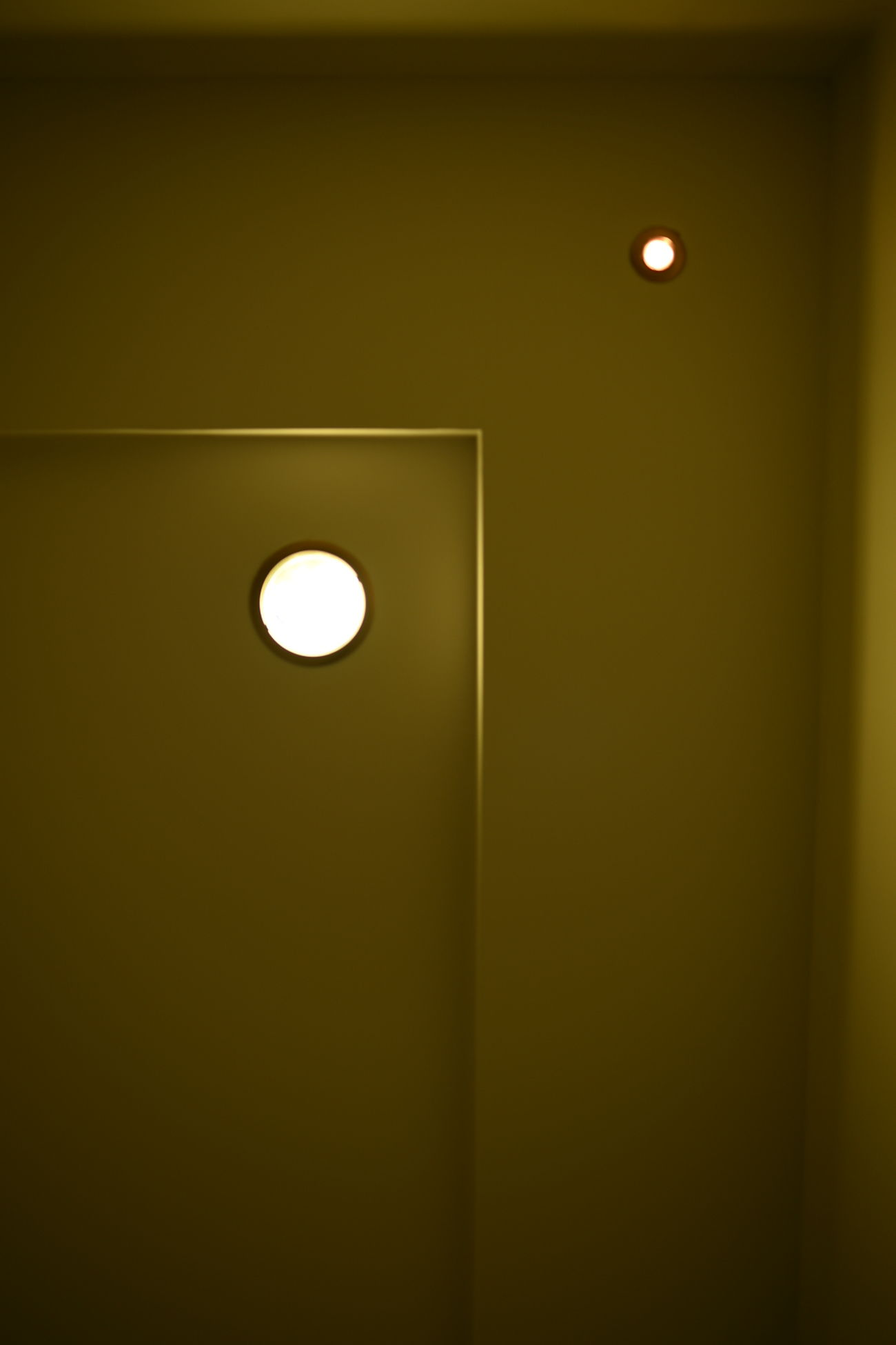 Day 23 - Moon Indoors  Illuminated Light - Natural Phenomenon Circle Electric Light Recessed Light Geometric Shape Green Color No People Vibrant Color Light And Shadows Light And Shadow Light Lights 365 365project 35mm D750 Nikon Full Frame Taking Photos 365 Day Challenge Architecture Lit