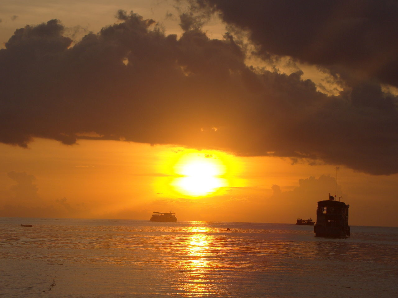 43 Golden Moments Horizon Over Water Nature Orange Color Sea Sun Sunset Thailand Water