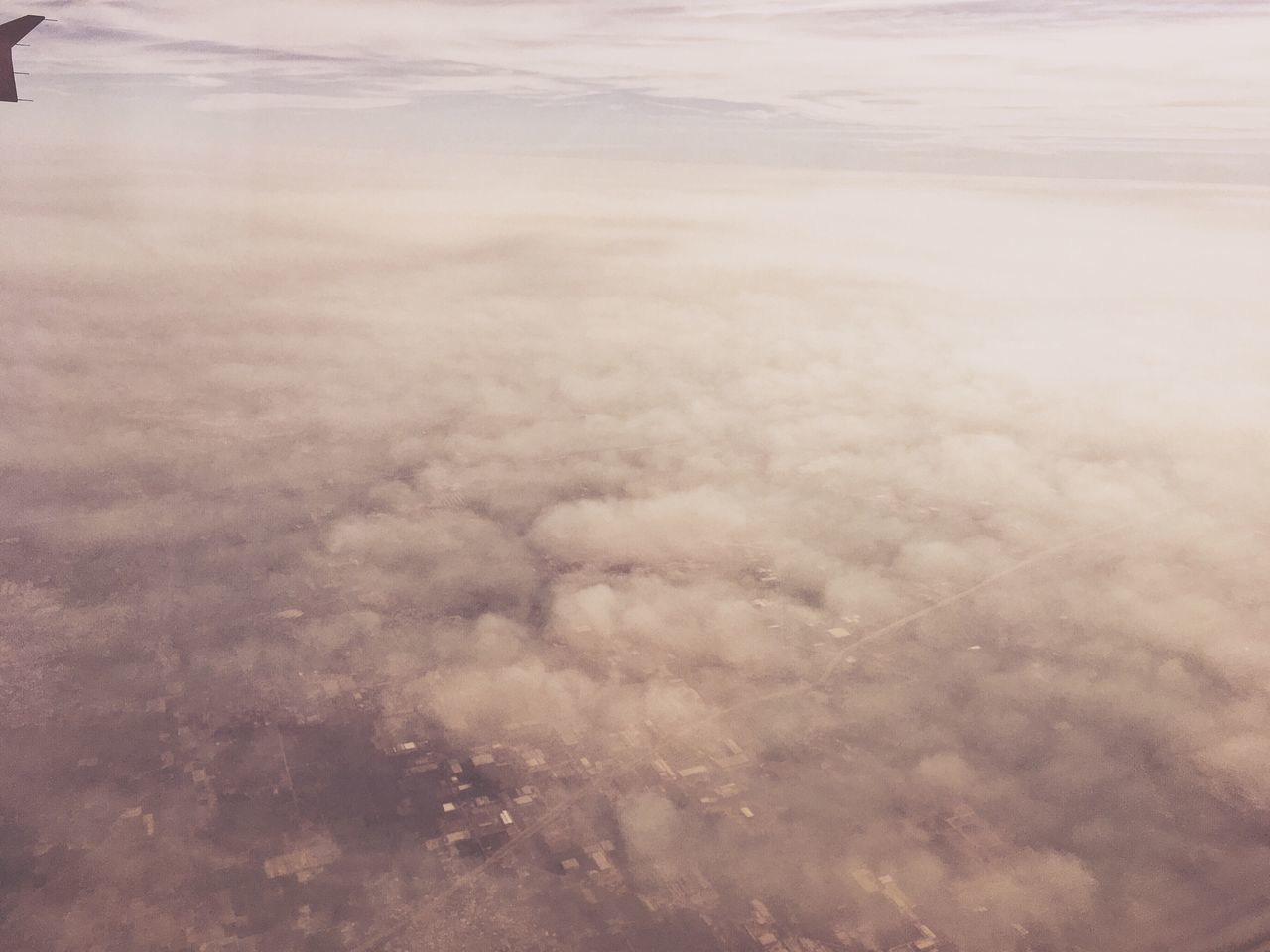 IPhoneography Nature Beauty In Nature Aerial View Scenics Tranquility Cloudscape Cloud - Sky Tranquil Scene Sky Outdoors No People Softness Day Landscape The Natural World Airplane Wing IPhone Cloudscape