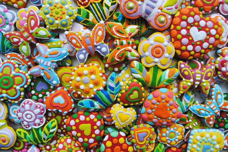 Unique, hand painted Christmas cookies , floral composition Backgrounds Beauty In Nature Choice Close-up Cookies Day Floral Composition Floral Perfection Floral Photography Flower Collection Food For Sale Freshness Full Frame Garden Decor Gingerbread Garden Homemade Cookies Honey Cookies Illustration Market Stall Multi Colored No People Outdoors Sweet Food Variation