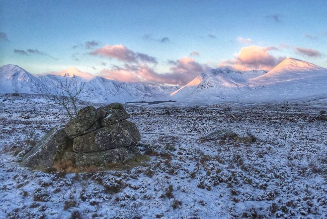 Black mount dawn Mountain View Dawn Of A New Day Snow Covered Rocks Wilderness Moorlands Cold Days Freezingweather