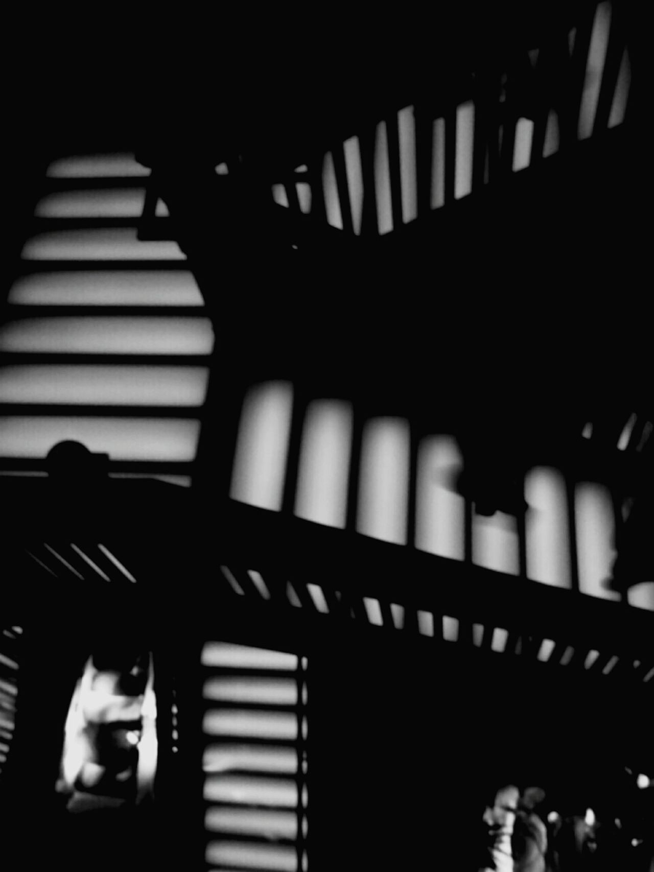 Same Pic Different Effect. Indoors  Silhouette Staircase Architecture Illuminated Exit Sign Day Black And White Urban EyeEm Best Shots EyeEmNewHere Up And Down People The Week On EyeEm
