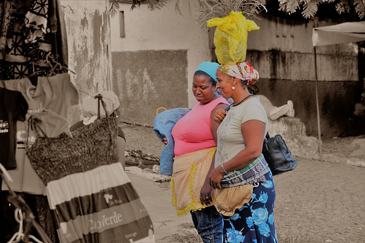 Two women on the market in Assomada Adult Adults Only Africa Business Cultures Day EyeEm Best Shots From My Point Of View Lifestyles Market Outdoors People Real People Shopping Small Business Togetherness Travel Photography Two People Women Women Around The World Break The Mold