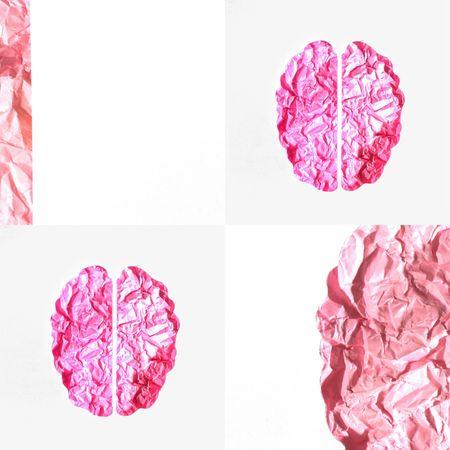 Brain hemispheres concept Papercraft Madewithpaper Conceptual Photography