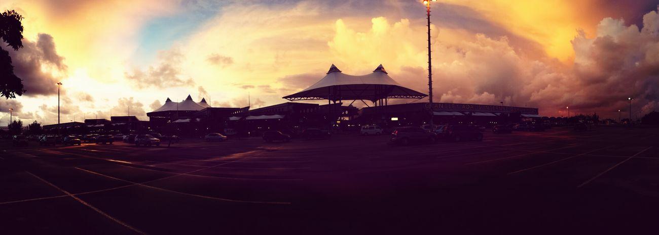 Good Morning .) Sunrise at the airport. Airport Sunrise Barbados NEXTshotPhotos