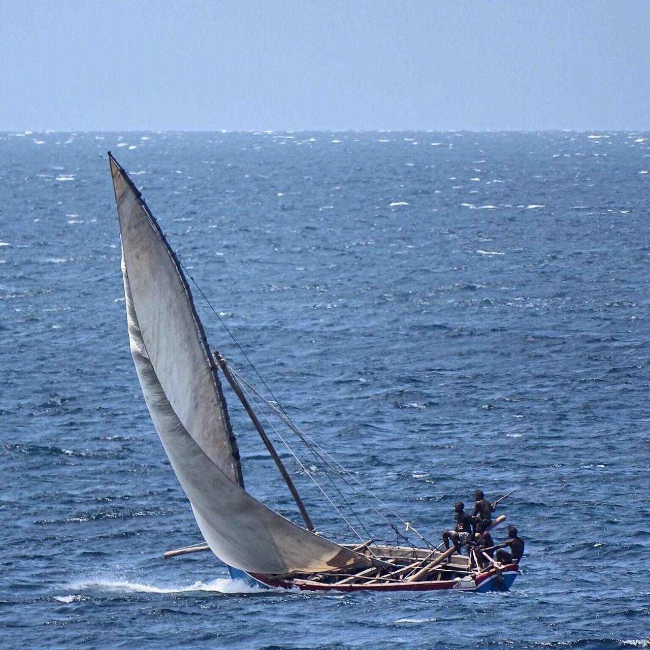 Beautiful stock photos of sailing, Blue, Canvas, Cidade de Nacala, Clear Sky