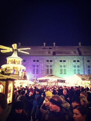 drinking at Weihnachtsmarkt in der Residenz by Cong