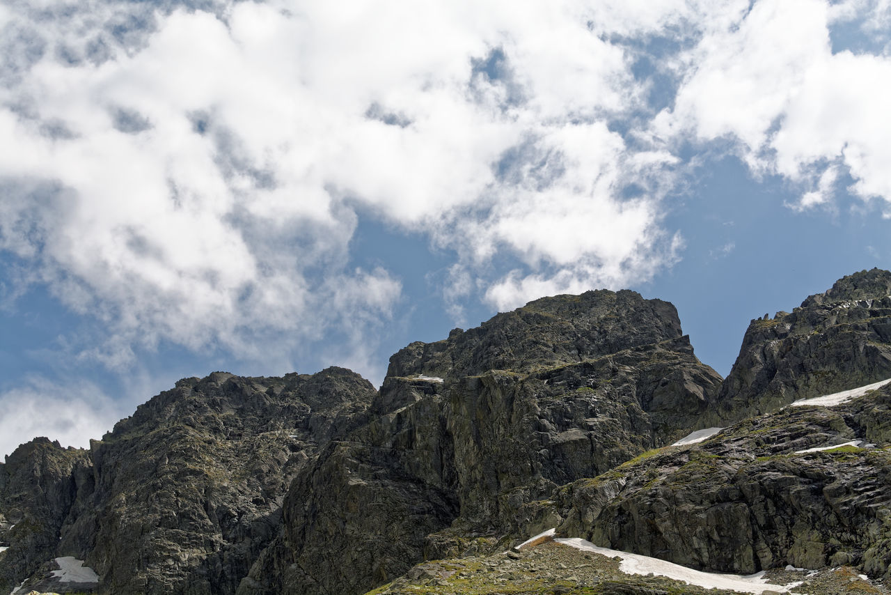 Mountains are a challenge ... Beauty In Nature Cloud - Sky Day Landscape Mountain Mountain Peak Mountain Range Nature No People Outdoors Polish Tatra National Park Rock - Object Scenics Sky Spring In The Mountains Tatry Orla Perc Travel Destinations Vacations