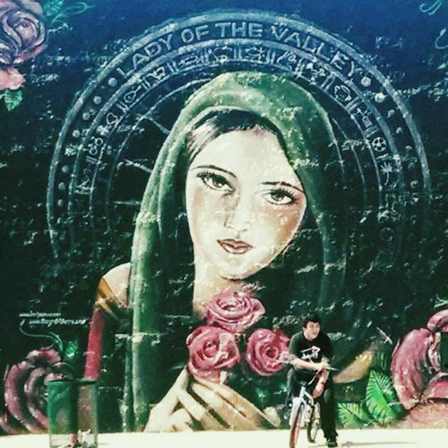 """Mural Streetart """"Lady of the Valley"""" Barrio"""