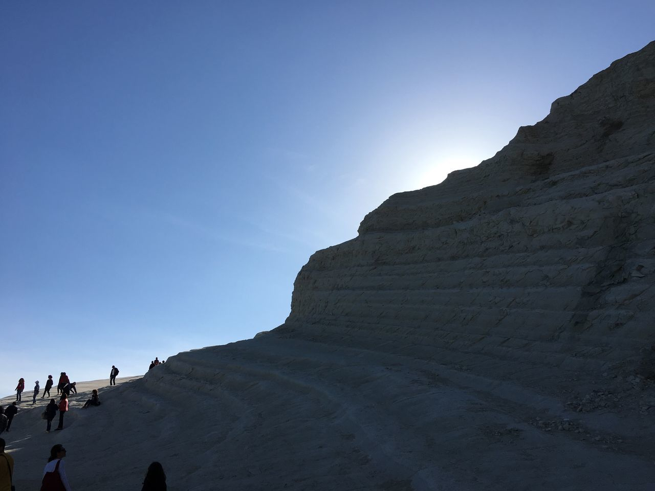 Scala Dei Turchi Agrigento Sicily Real People Clear Sky Large Group Of People Leisure Activity Nature Lifestyles Travel Destinations Day Tourism Men Vacations Scenics Women Outdoors Beauty In Nature Blue Mountain Cliff Sky Landscape