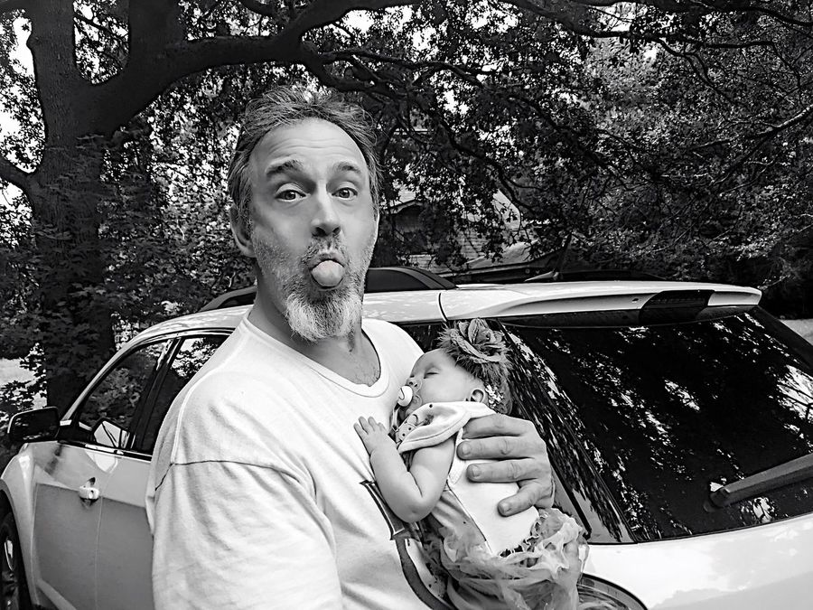 Home Is Where The Art Is My Goofy Hubby Holding Baby It's A Classic Case Of Beauty And The Beast .... But If Anyone Else Calls Her Beast I'll Rip Their Lungs Out! Everyday Emotion Family My Driveway My Ride My Life Faces Mobile County Alabama Outdoors Gulf Coast Country Life Everyday Joy At Home Blackandwhite Natural Photography My Joy... My Happiness... My Life!  Simple Moment Best Things In Life Are Free