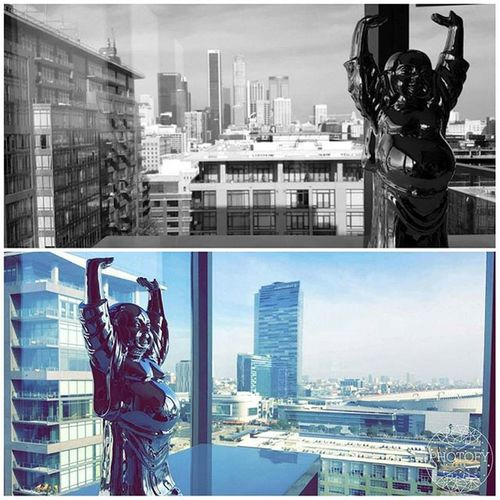 When I'm up here I feel at peace and I forget all the troubles running in my head... The view is amazing 😍 DowntownLA Downtown La Cityofangels City Lovetheview View Theviewuphere Peace Lagirls Lagirl Buddha Buildings Forgivebutneverforget Nice