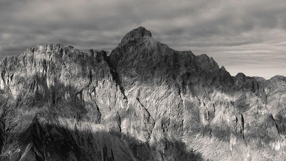 Great day hiking through rough terrain. Austria Blackandwhite Cliff Dangerous Terrain High Altitude Hike Landscape Mood Mountain Mountain Range Nature No People Outdoors Peak Rock Climbing Rocks Rough Terrain Scenics Sharp Rock Steep Hill Summer Tranquil Scene Tranquility EyeEmNewHere Resist