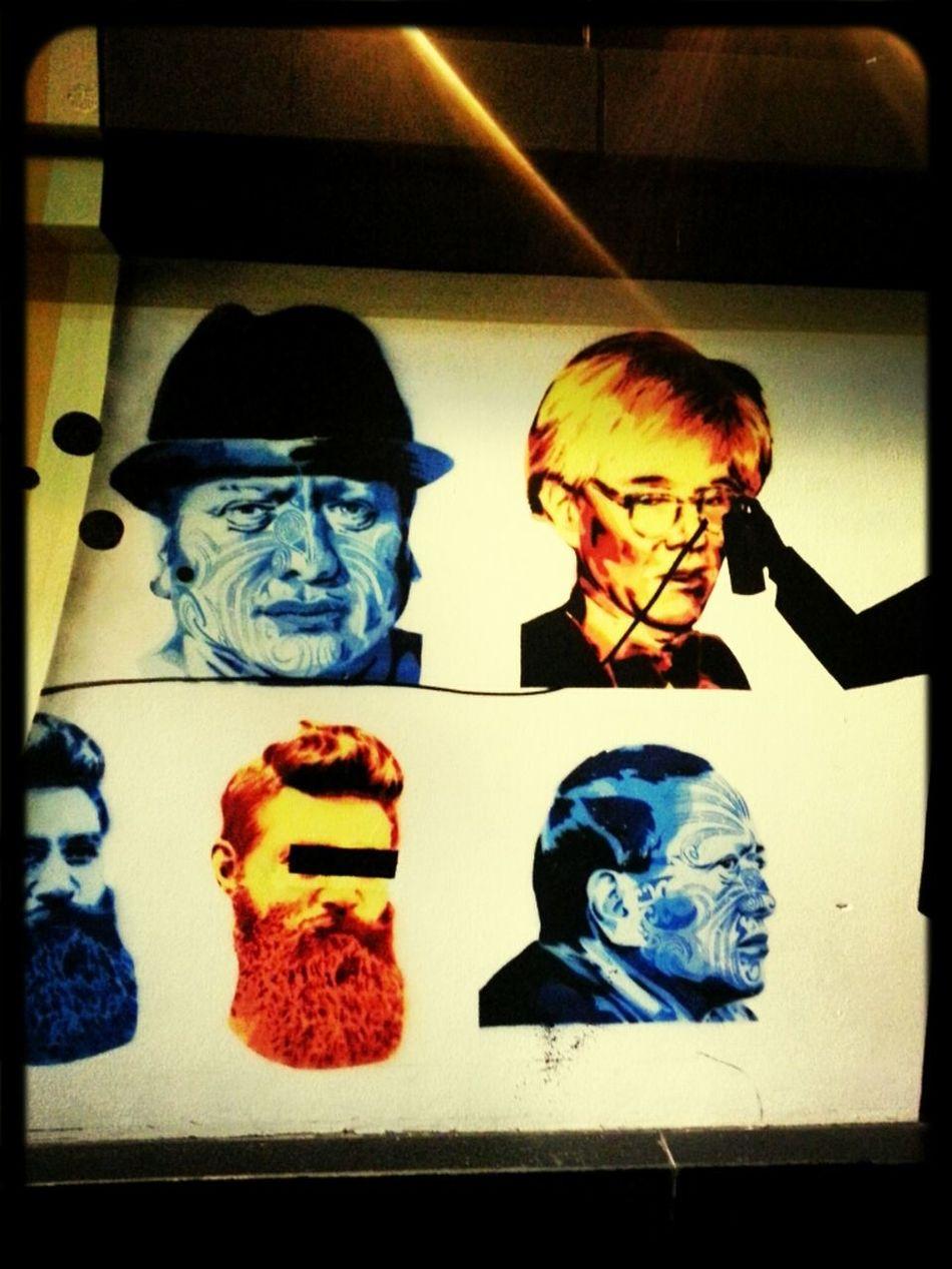 Streetart Andy Warhol Stencils Ned Kelly Ha-ha