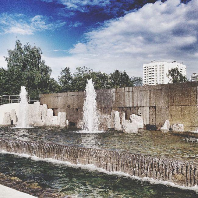 Pfur University Moscow Fountain Sky Campus РУДН университет Москва фонтан