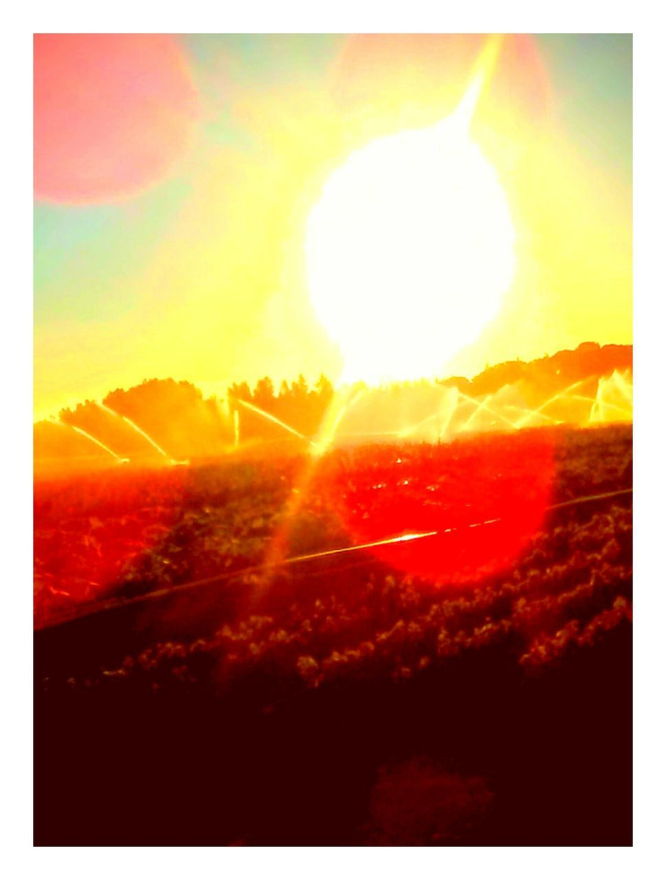 sunset, sun, sunbeam, nature, scenics, sky, idyllic, tranquil scene, orange color, beauty in nature, sunlight, majestic, lens flare, bright, tranquility, landscape, no people, outdoors, awe, silhouette, tree, day