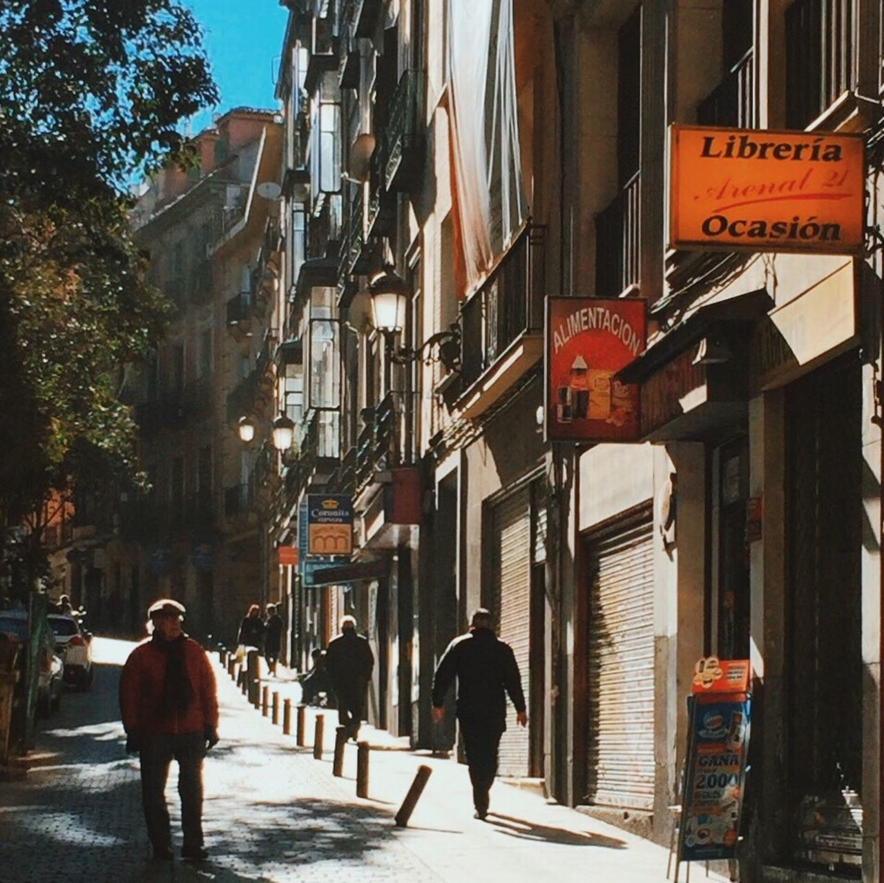 City Street Walking Built Structure Building Exterior Architecture Travel Destinations Full Length Outdoors Road Sign Day Madrid