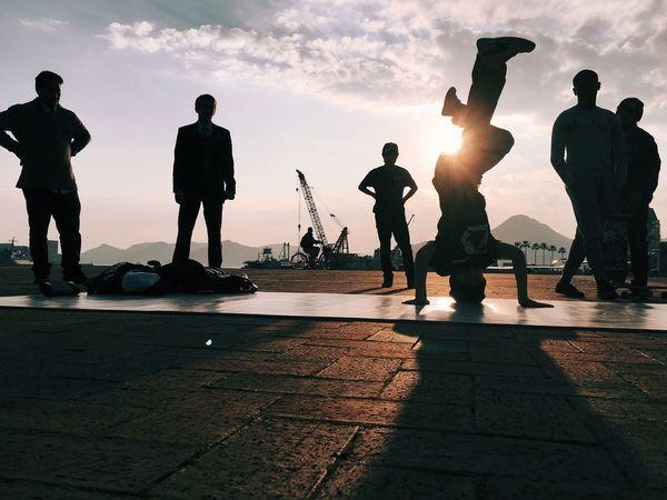 Break Dancing  Dance Street Performer Sun Set Coastline Ultimate Japan Adventure Club Fine Art Photography