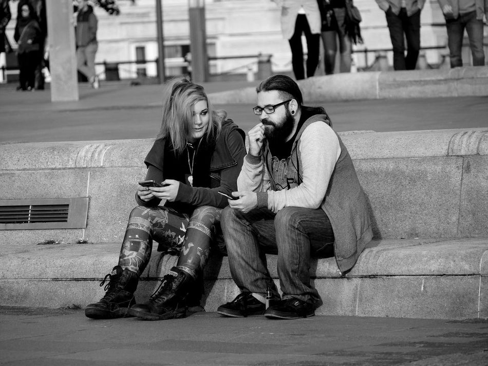 Streetphotography Black And White Streetlife Monochrome Photography Couple People Waterfront Fashion Sitting City Social Media Picsartrefugees Street Photography